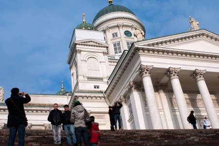 Helsinki lutheran cathedral in Helsinki Finland Editorial