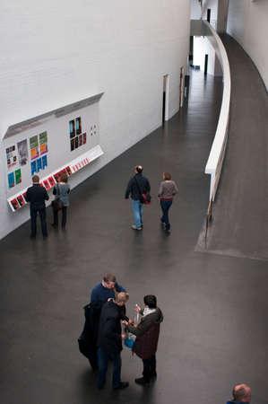 Inside Kiasma Museum of Contemporary Art, Helsinki, Finland. Kiasma (built 1993-1998) is a contemporary art museum located on Mannerheimintie Avenue City Helsinki, Finland