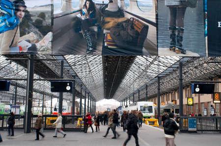 Central railway train station, Helsinki, Finland.
