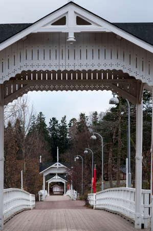 Bridge in Seurasaari island in Helsinki, Finland