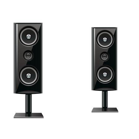 Acoustic speakers  イラスト・ベクター素材