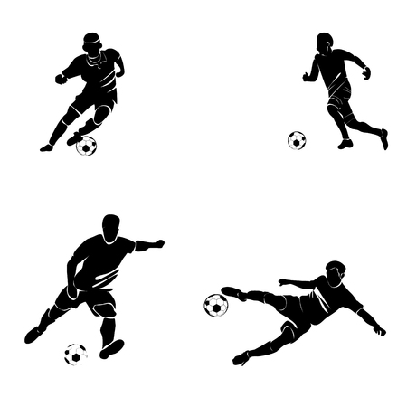 football player silhouette Illustration