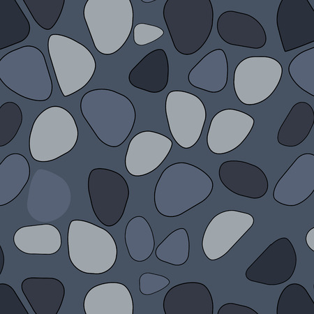Vector seamless stone pattern. Broken glass. Abstract mosaic pattern. Black and white background. For design and decorate path, wall, backdrop. Masonry endless texture. Broken crack mirror. Spiderweb,