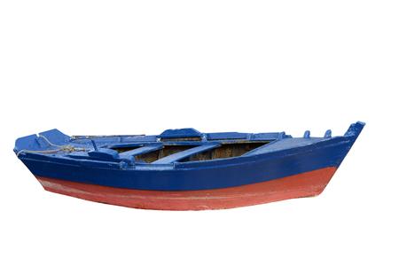 vissersboot Geïsoleerd op witte achtergrond Stockfoto