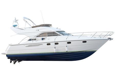 boot geïsoleerd op witte achtergrond Stockfoto