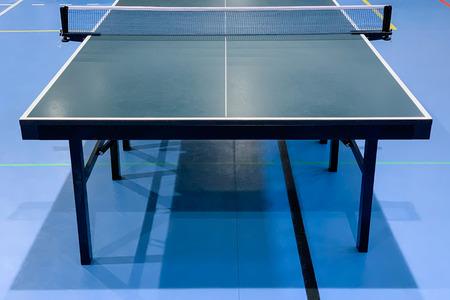 afbeelding van groene tafeltennistafel close-up