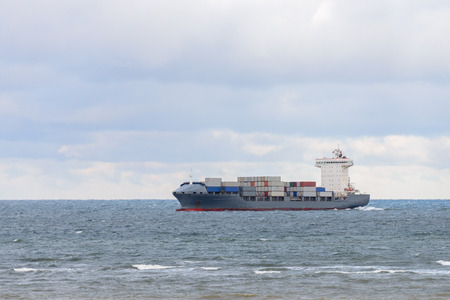 image of a cargo barge at sea