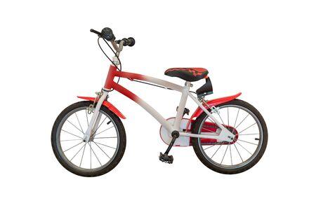 Bild des Fahrrads isoliert auf weißem Hintergrund