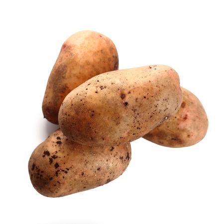 russet: Potatoes isolated on white background Stock Photo