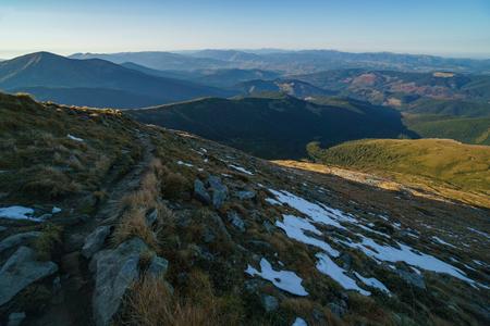 Landschaft der ukrainischen Karpaten, Tschornohora