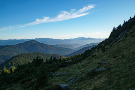 Landscape of the Ukrainian Carpathian Mountains, Chornohora