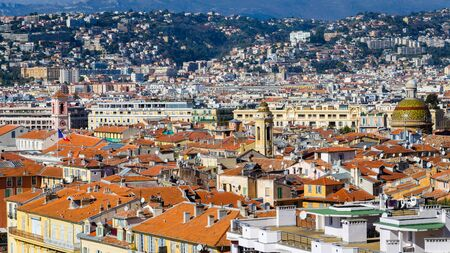 appartment: Orange roofs of the ancient part of Nice, France