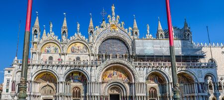 saint marks: Saint Marks Basilica viewed from the Piazza San Marco, Venice, Italy