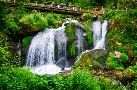Die höchsten Wasserfälle in Deutschland, Baden, Triberg Standard-Bild