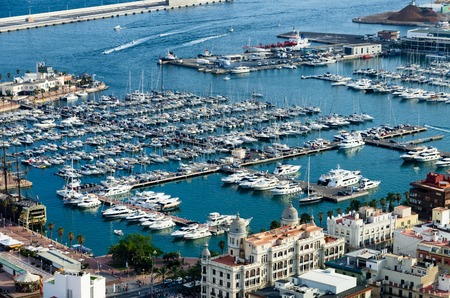 quay: Quay and port of Alicante in summer, Spain