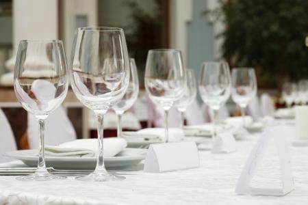 テーブル上に置き、バンケットの歓迎のゲスト