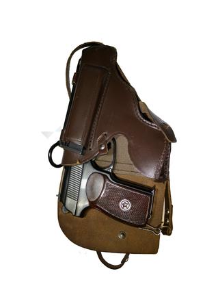 holster: Makarov pistol in the holster