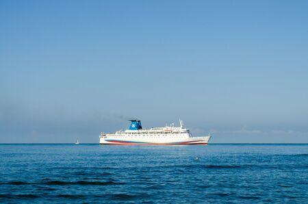 Sochi, Russia - July 20, 2019: Cruise ship Knyaz Vladimir (Prince Vladimir)