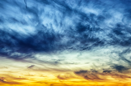 sky. clouds in the evening sky. scenic sunset