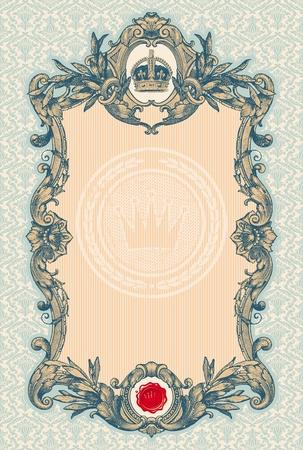 nobile: Telaio ornato inciso vector decorativi vintage