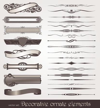 schriftrolle: Dekorativ entwerfen Vektorelemente & Seite Dekorationen