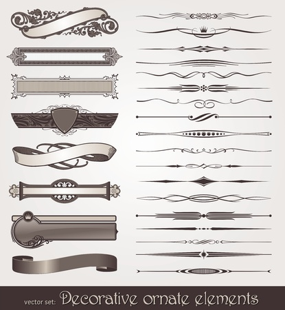 divider: Vector decorative design elements & page decorations