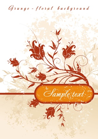 Vector floral decor & frame for text Stock Vector - 9857420