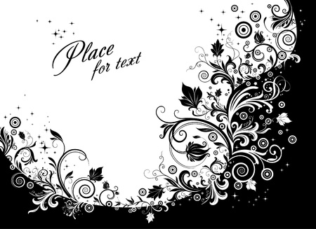 Floral decorative vector background Stock Vector - 9857491