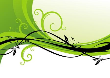 curves: Diseño de vector verde Vectores