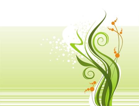 Abstract vector floral design Vector