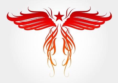 Vector ontwerp voor tattoo Stock Illustratie