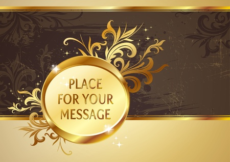 Vintage gold vector frame Stock Vector - 9857372