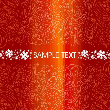 Red christmas vector background Stock Vector - 9857386