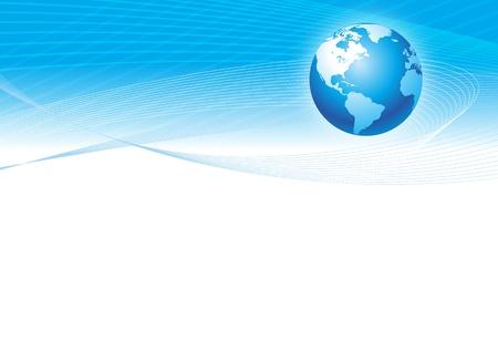 Vektor Hintergrund mit Globus