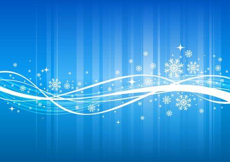polar light: Fondo de vector de invierno azul con copos de nieve