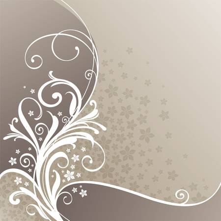 Decorative floral vector branch Stock Vector - 9902862