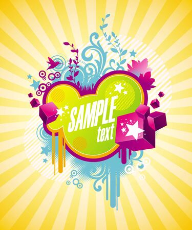 Multi-coloured abstract vector illustration Vector