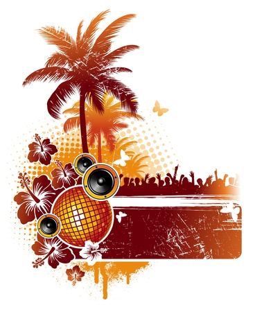 summer party: Tropical party - vector illustration