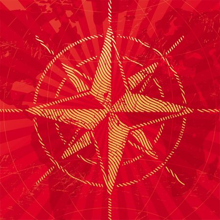 compass rose: Adventures and travel vector  illustration with compass rose on a map background