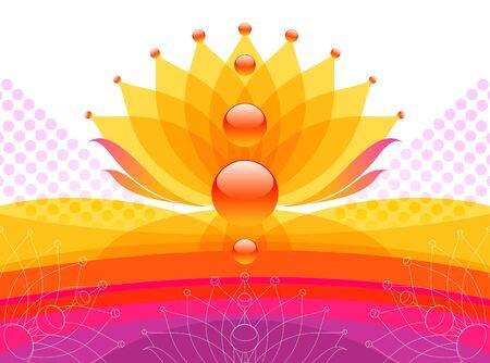 petals: Abstract flower vector design Illustration