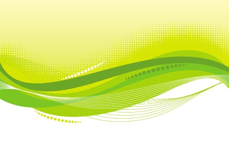 abstract waves: Abstract green vector background