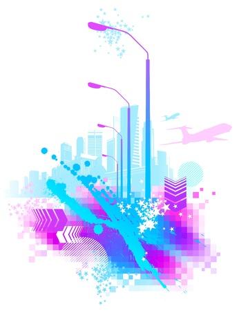 Abstract vector urban scene Vector