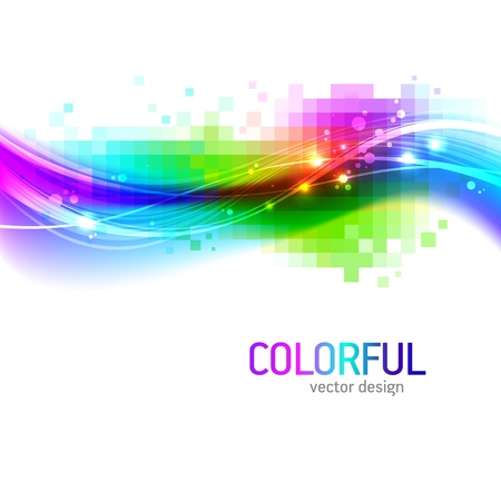 Abstract vector background with colorful wave Vector