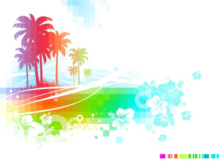 Abstract vector tropical summer Vector