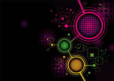 Abstract futuristic vector background Vector