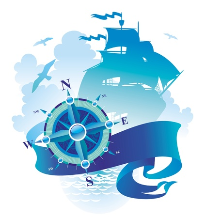 compass rose: Adventures & travel vector illustration