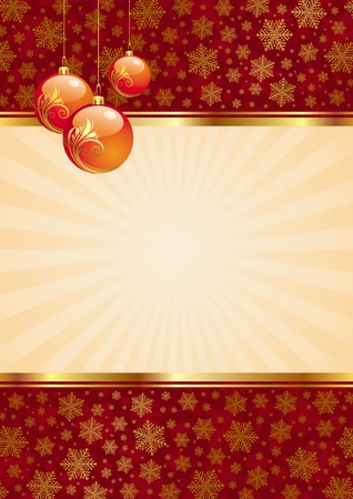 Vector background with christmas balls Vector