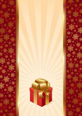 christmas gift box: Vector holidays background with Christmas gift box Illustration