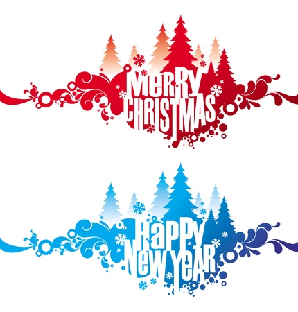 Christmas & New year abstrct vector banners Stock Vector - 9902939