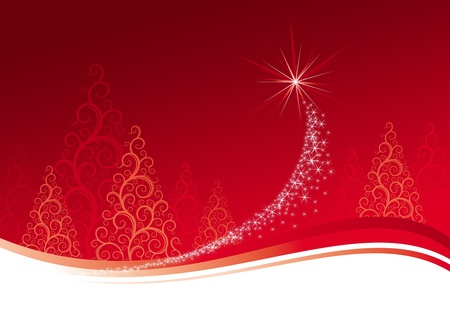 stardust: Christmas background, vector illustration Illustration